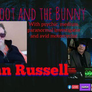 Professional psychic, medium, paranormal investigator and avid motorcyclist John Russell