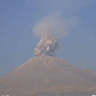 El Popocatépetl mantiene su actividad