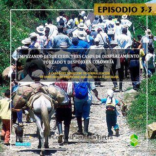 Empezando desde cero: tres casos de desplazamiento forzado y despojo en Colombia