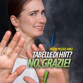Nell'HIIT non  devi usare  tabelle!