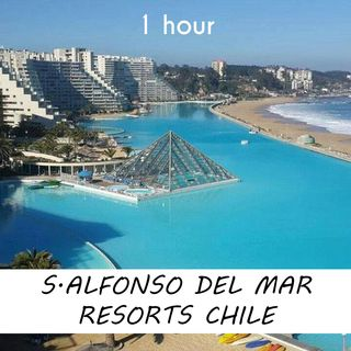 San Alfonso Del Mar Resort, Chile   1 hour RIVER Sound Podcast   White Noise   ASMR sounds for deep Sleep   Relax   Meditation   Colicky