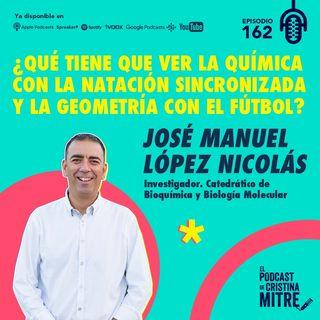 ¿Qué tiene que ver la química con la natación sincronizada y la geometría con el fútbol?, con Jose Manuel López Nicolás. Episodio 162