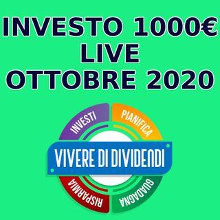 INVESTO 1000 EURO LIVE - OTTOBRE 2020