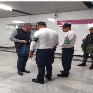 Guardia Nacional vigila estaciones del Metro