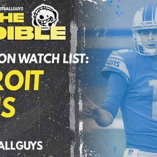 2021 Fantasy Football - Detroit Lions Preseason Watch List