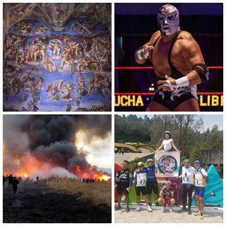 Lucha Libre- incendios- champions league- azul celeste