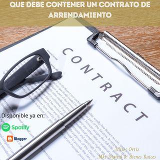 Que debe contener un contrato de arrendamiento?