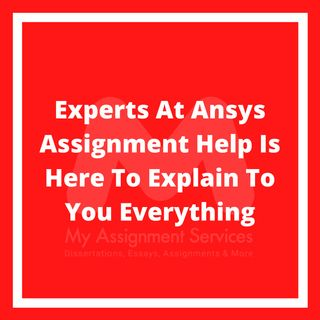 Experts At Ansys Assignment Help Is Here To Explain To You Everything