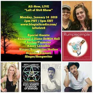 Left of Str8 Show: Suzanne & Diane Dewitt Hall, Kasey Lansdale, Brandon Stansell
