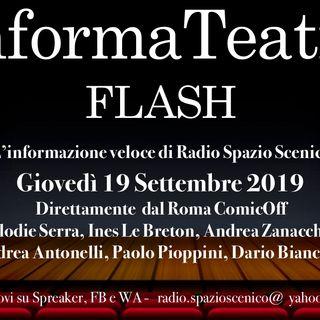 InformaTeatro Flash 19 settembre 2019
