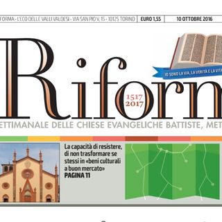 Alberto Corsani - nuova veste grafica Riforma