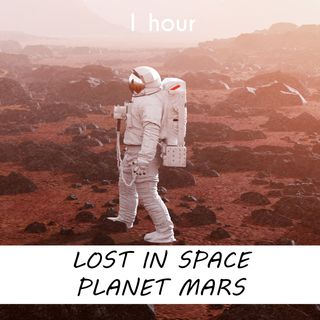 Lost in Space Planet Mars | 1 hour CELESTIAL Sound Podcast | White Noise | ASMR sounds for deep Sleep | Relax | Meditation | Colicky
