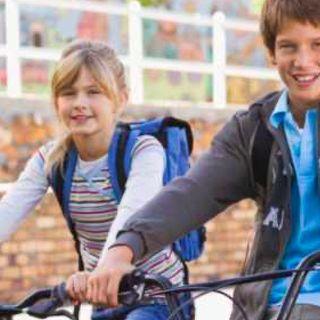 Vai a scuola in bicicletta
