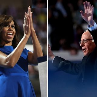 Michelle Obama and Bernie Sanders Rock The DNC!