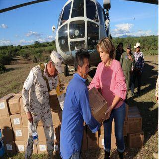 Gobernadora de Sonora recorre municipios inundados