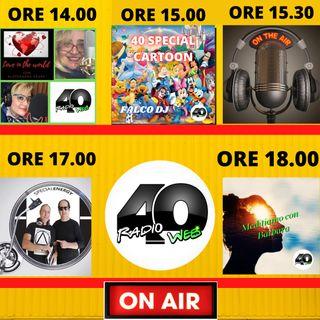 "Radio 40 ""Forty Prime Time"" Domenica Pomeriggio 14/02/2021"