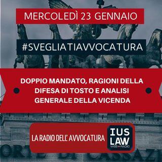 DOPPIO MANDATO, RAGIONI DELLA DIFESA DI TOSTO E ANALISI GENERALE DELLA VICENDA - #SvegliatiAvvocatura