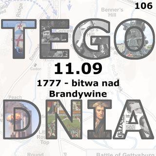 Tego dnia: 11 września (bitwa nad Brandywine)