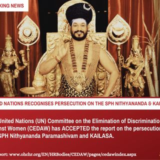 UN proves persecution on SPH Nithyananda