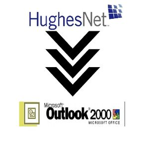 How to configure Hughes Net Email on Microsoft Outlook 2000?