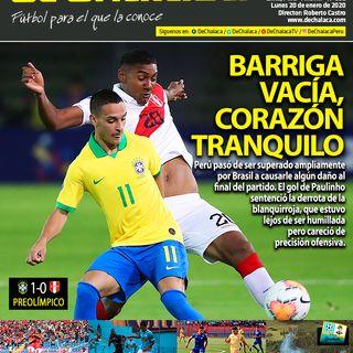 #DeChalacaEnPortada lunes 20/01/2020: el debut de Perú Sub-23 ante Brasil