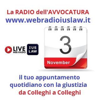 Giovedì 3 Novembre 2016, #SvegliatiAvvocatura LIVE!