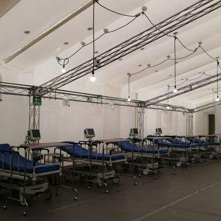 Pachuca puso en marcha el primer hospital inflable