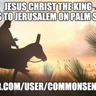 Jesus Christ The King Comes To Jerusalem On Palm Sunday