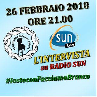 """RADIO SUN ON AIR ORE 20.15 INTERVISTA ESCLUSIVA A """" FACCIAMO BRANCO """""""