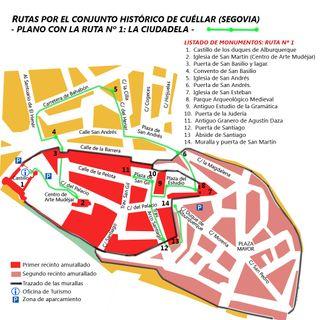 Cuéllar: La ciudadela (ruta 1).