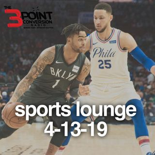 The 3 Point Conversion Sports Lounge- NBA Playoffs, 76ers Roundup, Braves Deal Out, Injury Report