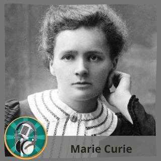 Arturo Cortés con Marie Curie