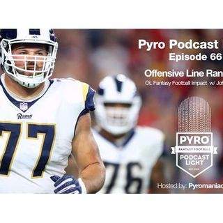 Pyro Light Fantasy Football Podcast – Episode 66 – Offensive Lines w/ John Tuvey