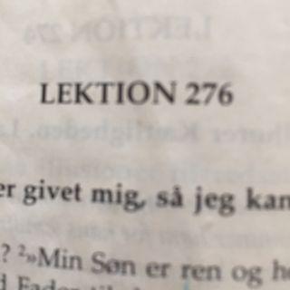 Lektion 276. Et kursus i mirakler.