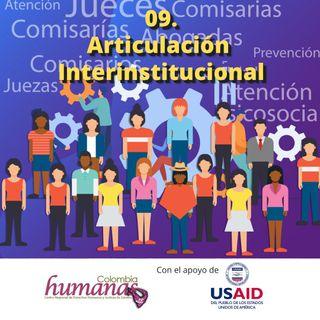 09. Articulación interinstitucional
