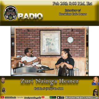 Interview with Nzingas Breakfast cafe owner Zuri