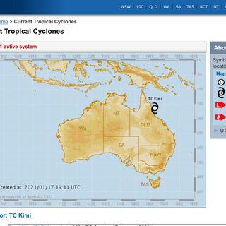 Cyclone Kimi update 18-1-2021
