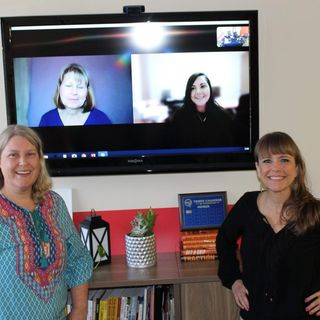 COLLABORATIVE CONNECTIONS Julie Jakubek with Allstate Natalie Ceroni with Ceroni Law Firm and Jo Lou Spleth with Let Your Life Flow
