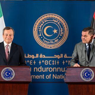 Draghi in Libia, dichiarazioni congiunte dei due premier