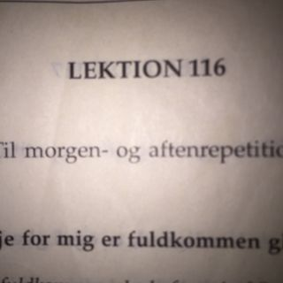 Lektion 116