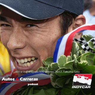 #Indy500 Takuma Sato gana las 500 millas