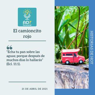 21 de abril - El camioncito rojo - Devocional de Jóvenes - Etiquetas Para Reflexionar