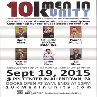 10k Men In Unity Saturday, September 19th, 2015