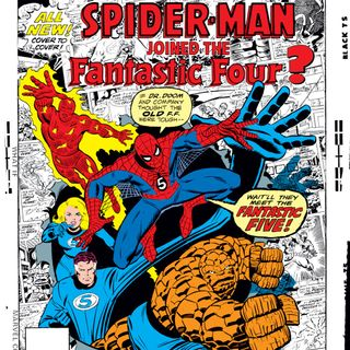"""Syndicated Source Material 013 - What If? V1 #1 -  """"Spider-Man Joined the Fantastic Four?"""""""