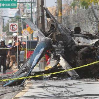 Un helicóptero cayó en Apodaca, Nuevo León