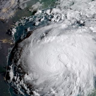 Hurricane Harvey Bears Down On Texas