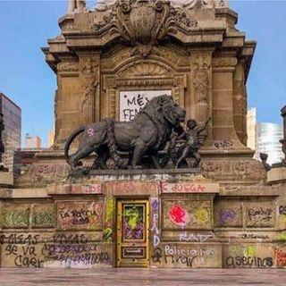 Proponen trabajo comunitario a quien dañe monumentos durante marchas