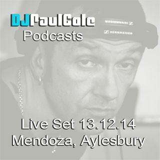 """Live Set """"Mendoza"""" 13th December 2014"""