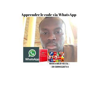 Apprendre le code de la route italien en wolof via Whatsapp.
