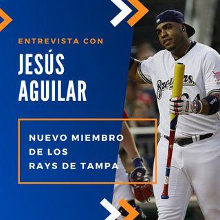 Jesus Aguilar llega a los Rays de Tampa Bay